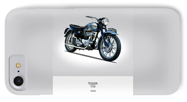 Triumph Tiger 110 1956 IPhone 7 Case by Mark Rogan