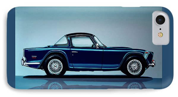 Triumph Tr5 1968 Painting IPhone Case by Paul Meijering