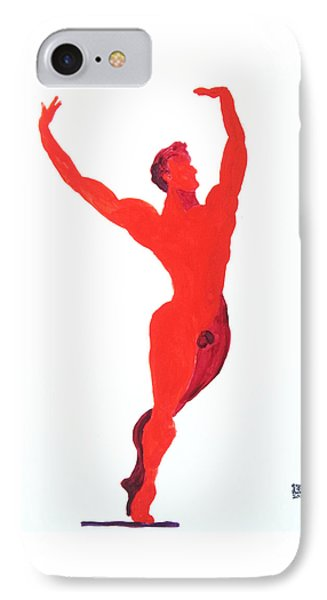 IPhone Case featuring the painting Triumphant Balance by Shungaboy X