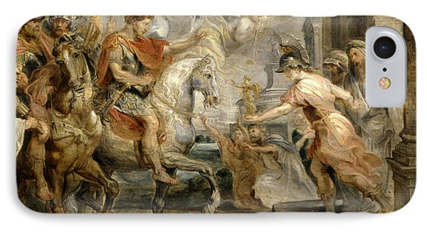 Triumphant Entry Of Constantine Into Rome IPhone Case by Peter Paul Rubens