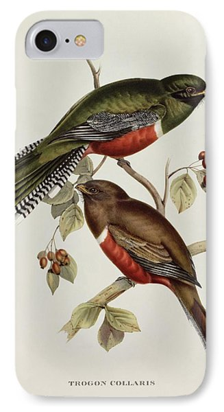 Trogon Collaris IPhone 7 Case by John Gould