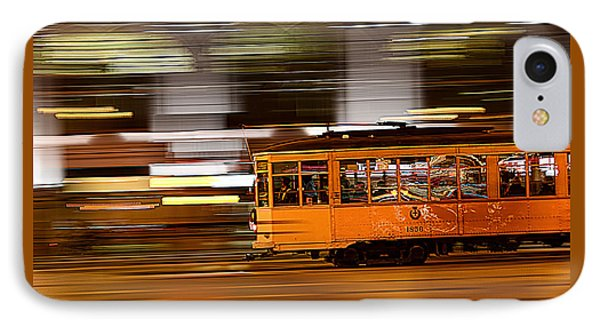 Trolley 1856 On The Move IPhone Case by Steve Siri