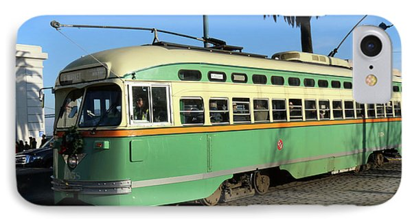 IPhone Case featuring the photograph Trolley Number 1058 by Steven Spak