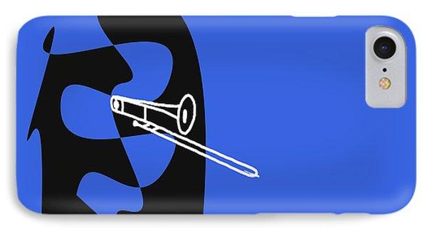 Trombone In Blue IPhone Case