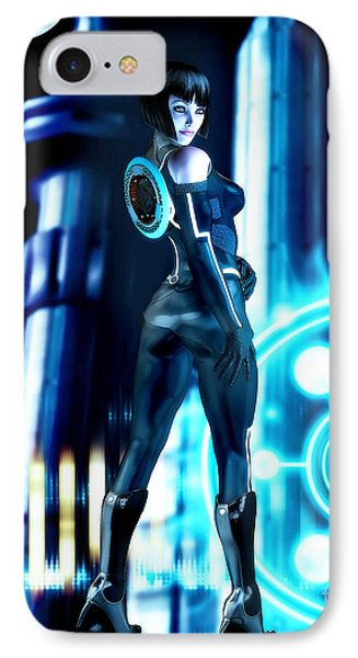 Tron Quorra IPhone Case by Alicia Hollinger