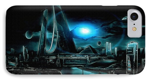 Tron Revisited IPhone Case by Mario Carini