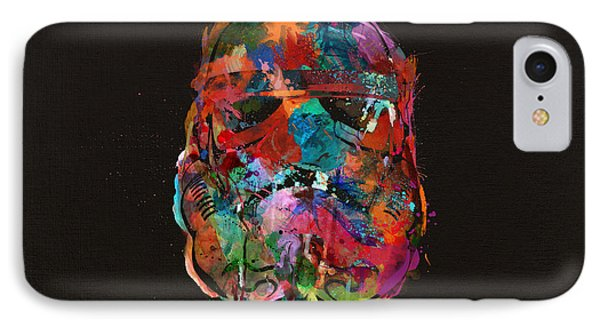 Trooper In A Storm Of Color IPhone Case by Mitch Boyce
