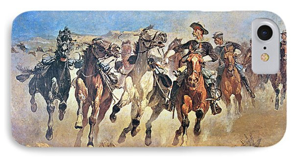 Troopers Moving IPhone Case by Frederic Remington