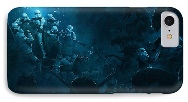 Troopers Vs Space Cockroaches 1 IPhone Case by Guillem H Pongiluppi