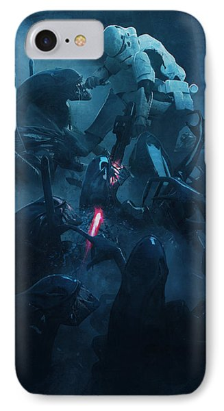 Troopers Vs Space Cockroaches 2 IPhone Case by Guillem H Pongiluppi