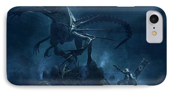 Troopers Vs Space Cockroaches 5 IPhone Case by Guillem H Pongiluppi