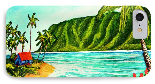 Tropical Beach #361 Phone Case by Donald k Hall