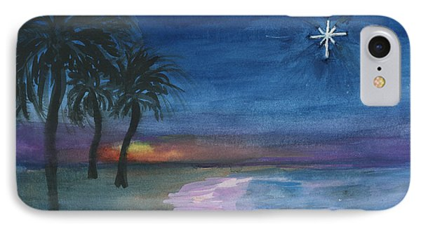 IPhone Case featuring the painting Tropical Christmas by Donna Walsh