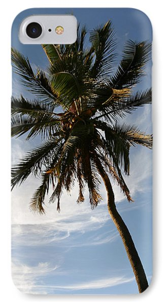 Tropical Coconut Palm Tree Maui Hawaii Phone Case by Pierre Leclerc Photography
