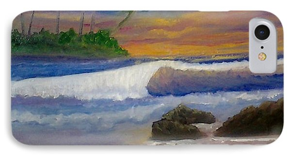 IPhone Case featuring the painting Tropical Dream by Holly Martinson