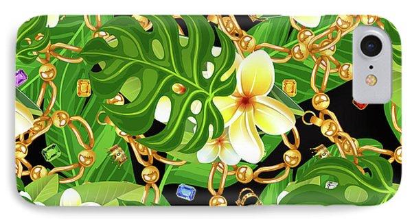Tropical Elegant IPhone Case by Mark Ashkenazi