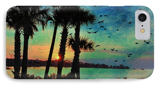 Tropical Evening IPhone Case by Jan Amiss Photography