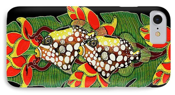 IPhone Case featuring the painting Tropical Fish by Debbie Chamberlin