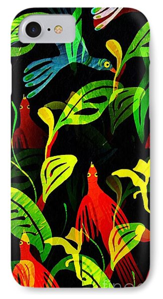 Tropical Flock Phone Case by Sarah Loft