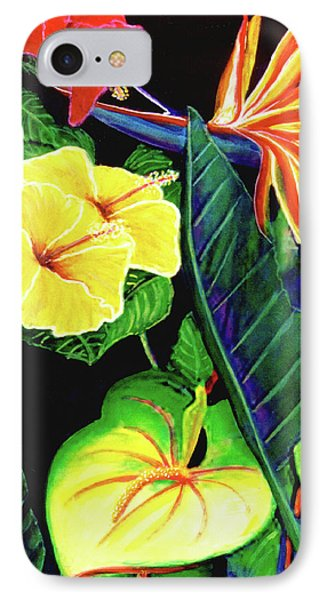 Tropical Flower Arrangement #251 Phone Case by Donald k Hall
