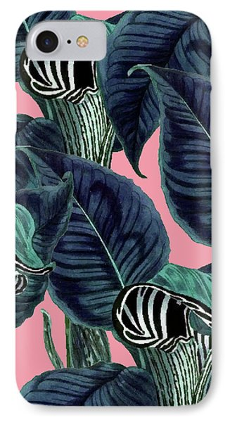 Tropical Flower Pattern IPhone Case