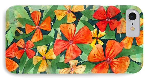Tropical Flower Splash IPhone Case by Kristen Fox