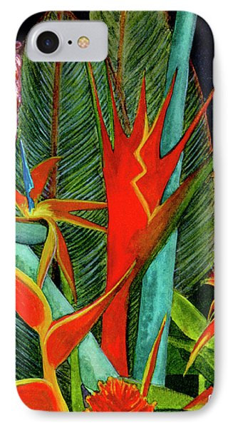 Tropical Flowers Assortment #60 Phone Case by Donald k Hall