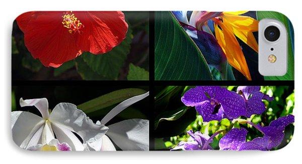 Tropical Flowers Multiples IPhone Case by Susanne Van Hulst