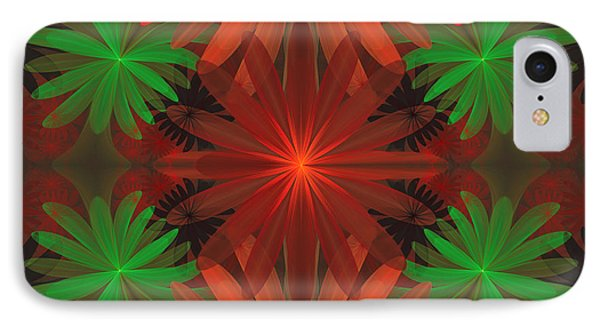 Tropical Flowers IPhone Case by Sandy Keeton