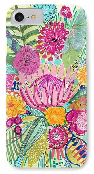 Flowers iPhone 7 Case - Tropical Foliage by Rosalina Bojadschijew