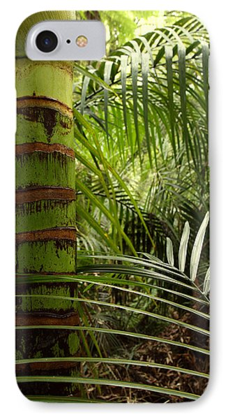 Tropical Forest Jungle Phone Case by Les Cunliffe