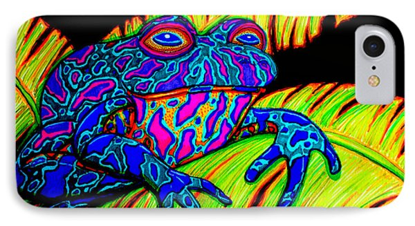 Tropical Frog Phone Case by Nick Gustafson