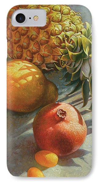 Pear iPhone 7 Case - tropical Fruit Large by Mia Tavonatti