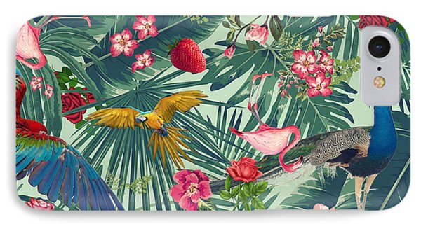 Tropical Fun Time  IPhone 7 Case by Mark Ashkenazi