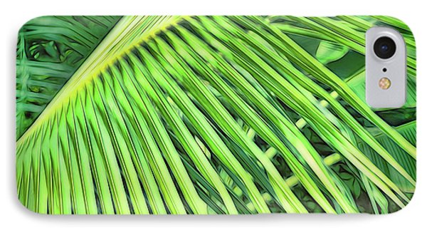 Tropical Green IPhone Case by Ann Powell