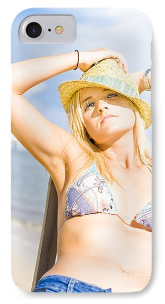 Tropical Island Beach Babe IPhone Case by Jorgo Photography - Wall Art Gallery