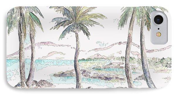 IPhone Case featuring the digital art Tropical Island by Elizabeth Lock