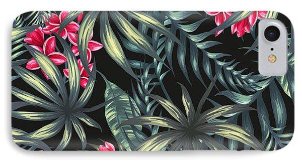 Tropical Leaf Pattern  IPhone Case
