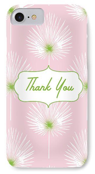 Tropical Leaf Thank You- Art By Linda Woods IPhone Case by Linda Woods