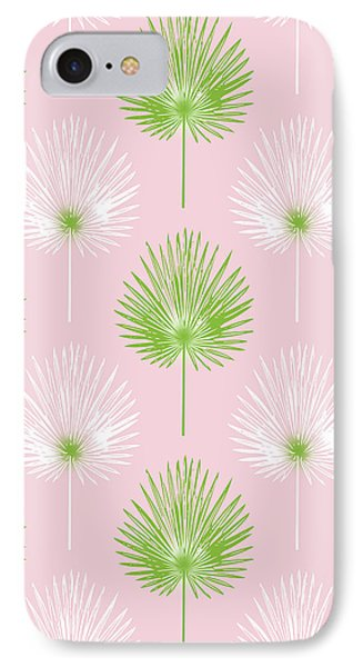 Tropical Leaves On Pink 2- Art By Linda Woods IPhone Case