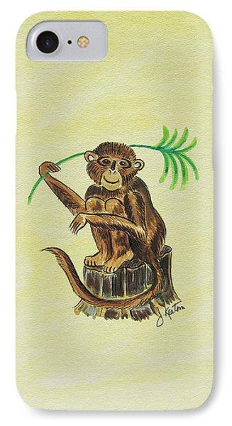 Tropical Monkey 3 Phone Case by John Keaton