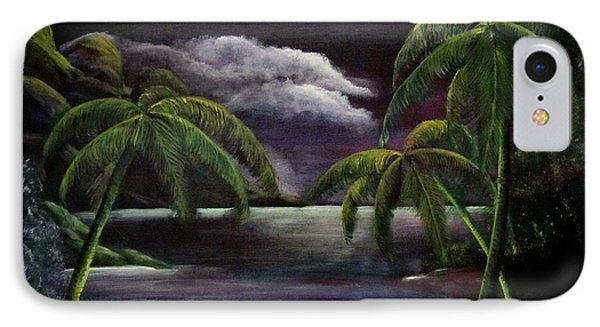 Tropical Moonlight IPhone Case by Luis F Rodriguez