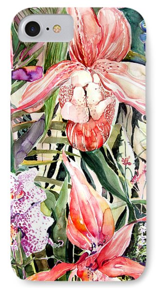 Tropical Orchids IPhone Case by Mindy Newman