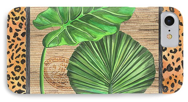 Tropical Palms 1 IPhone Case by Debbie DeWitt