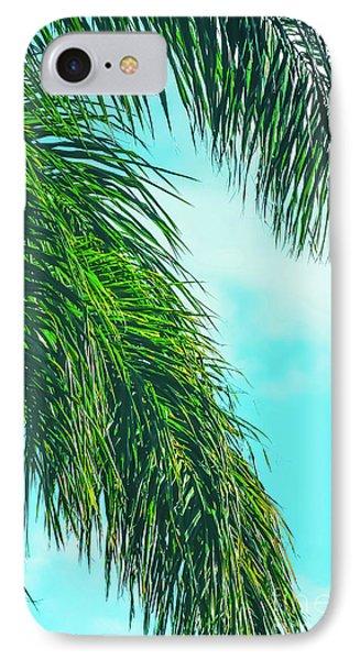Tropical Palms Maui Hawaii IPhone Case by Sharon Mau