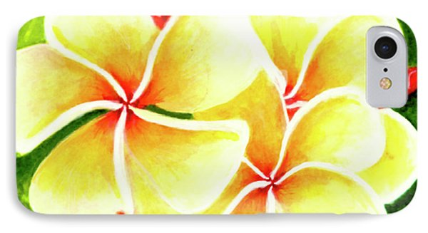 Tropical Plumeria Flowers #226 Phone Case by Donald k Hall