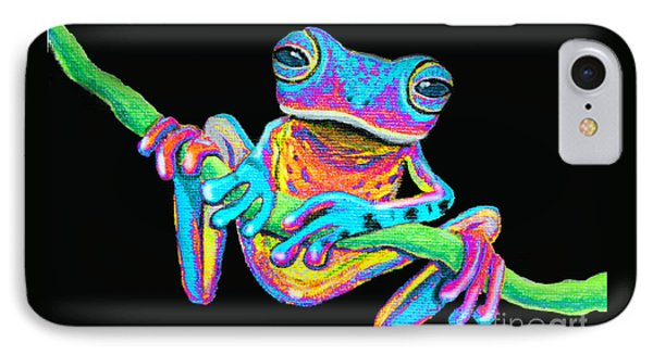 Tropical Rainbow Frog On A Vine IPhone Case