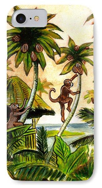 Tropical Scene IPhone Case by John Keaton
