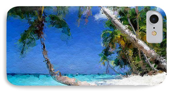 Tropical Seaside IPhone Case by Anthony Fishburne