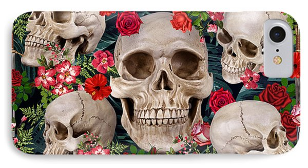Tropical Skull  IPhone Case by Mark Ashkenazi